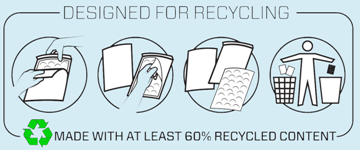 We use recycled packaging